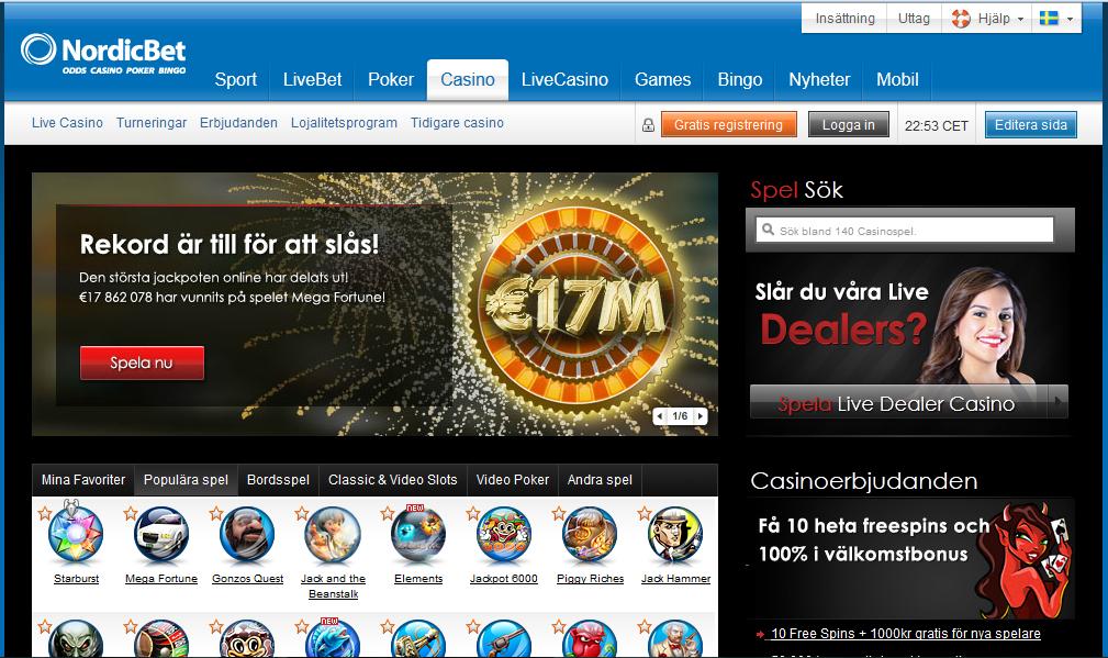 Nordic Bet Casino Bonus