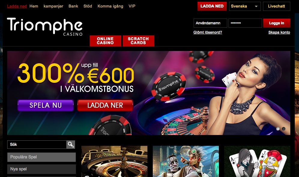 Triomphe casino free spins