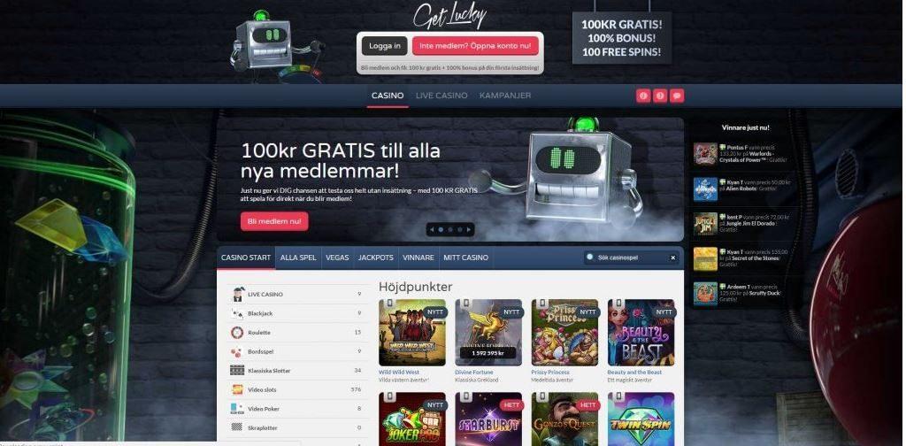 get lucky online casino