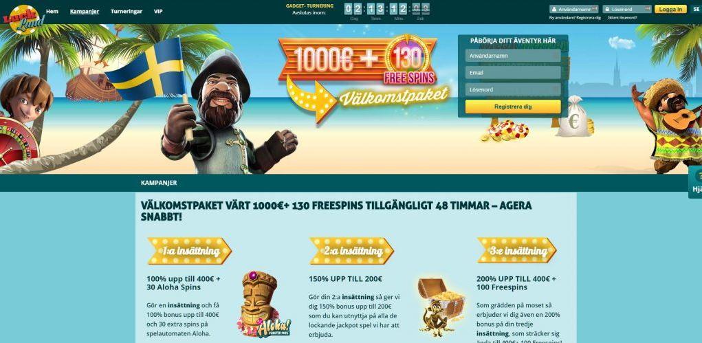 luckland online casino framsida