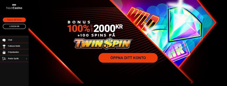 Spela med NextCasino och ta del av stor bonus med free spins