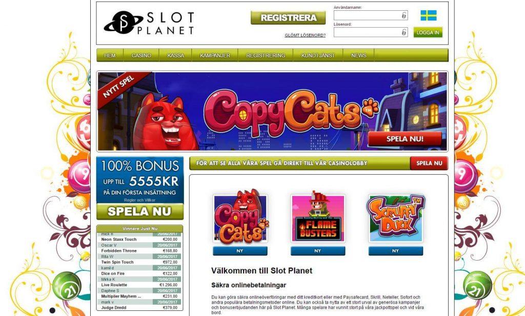 slot planets hemsida med casinospel och casinobonusar
