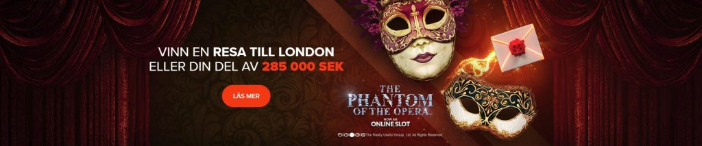 Ninja Casino The Phantom of the Opera kampanj