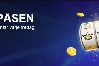 Omsättningsfria free spins varje fredag hos SverigeKronan