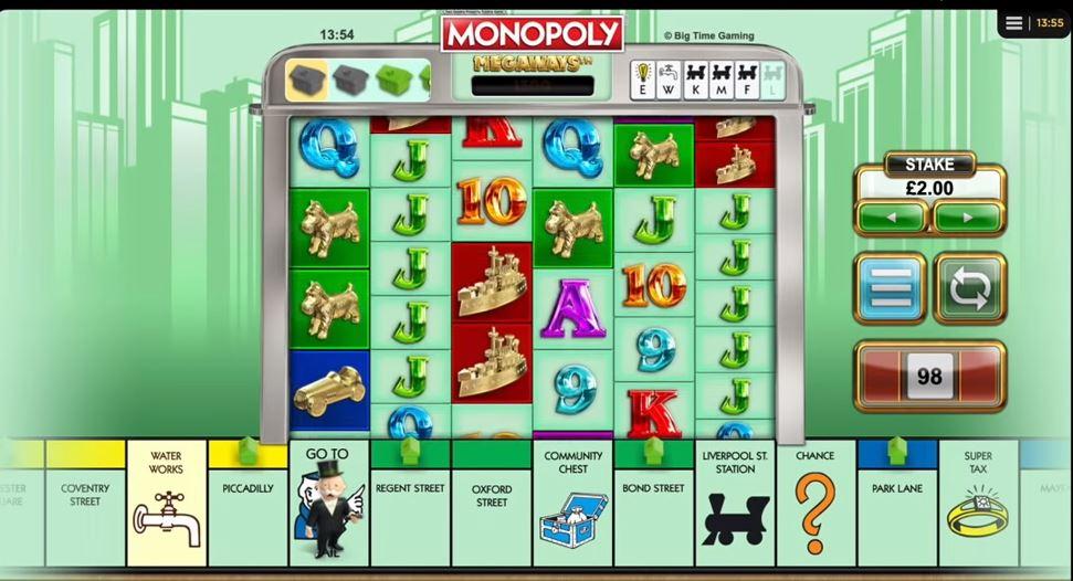 Monopoly Megaways på Leo Vegas