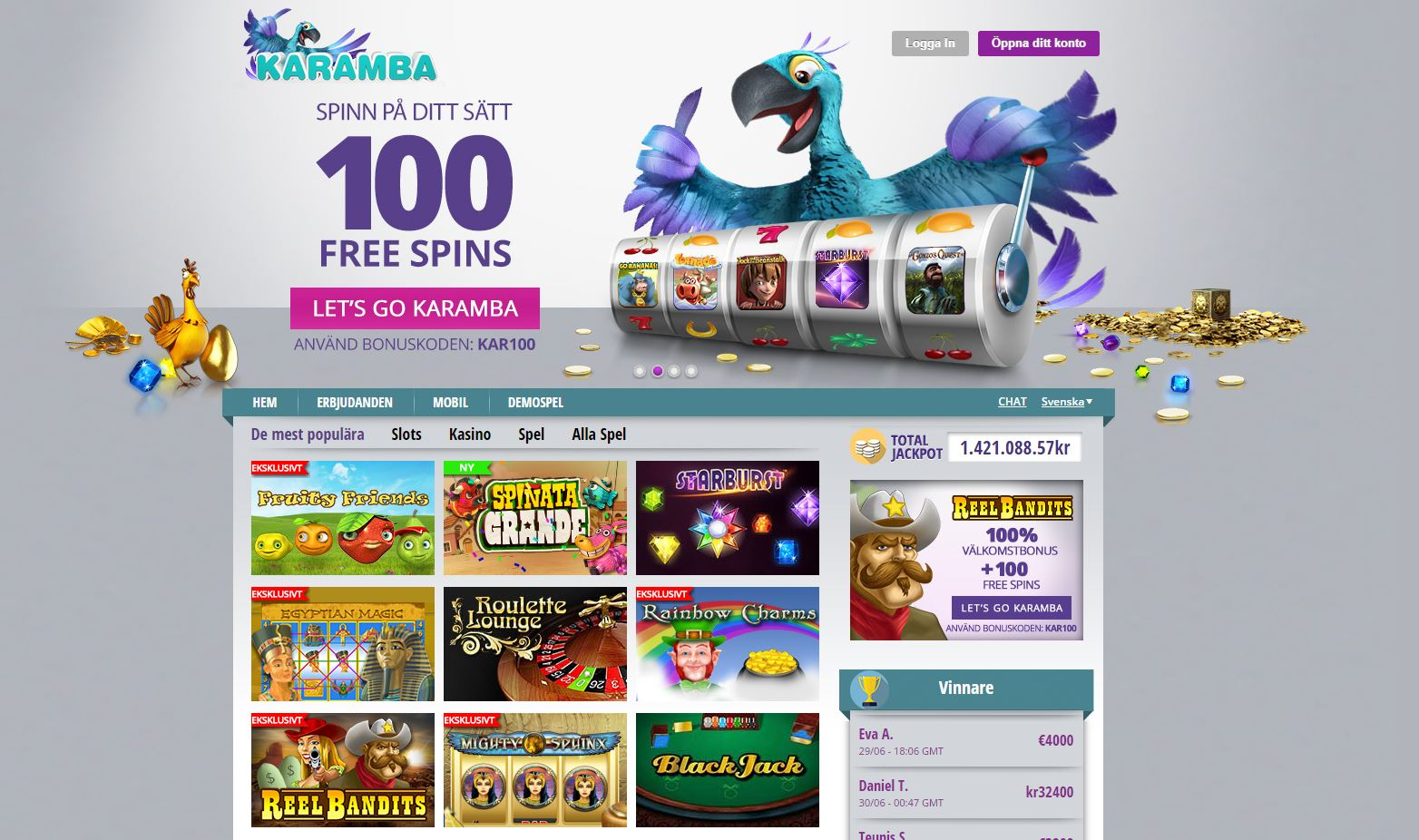 Karamba Casino Recension